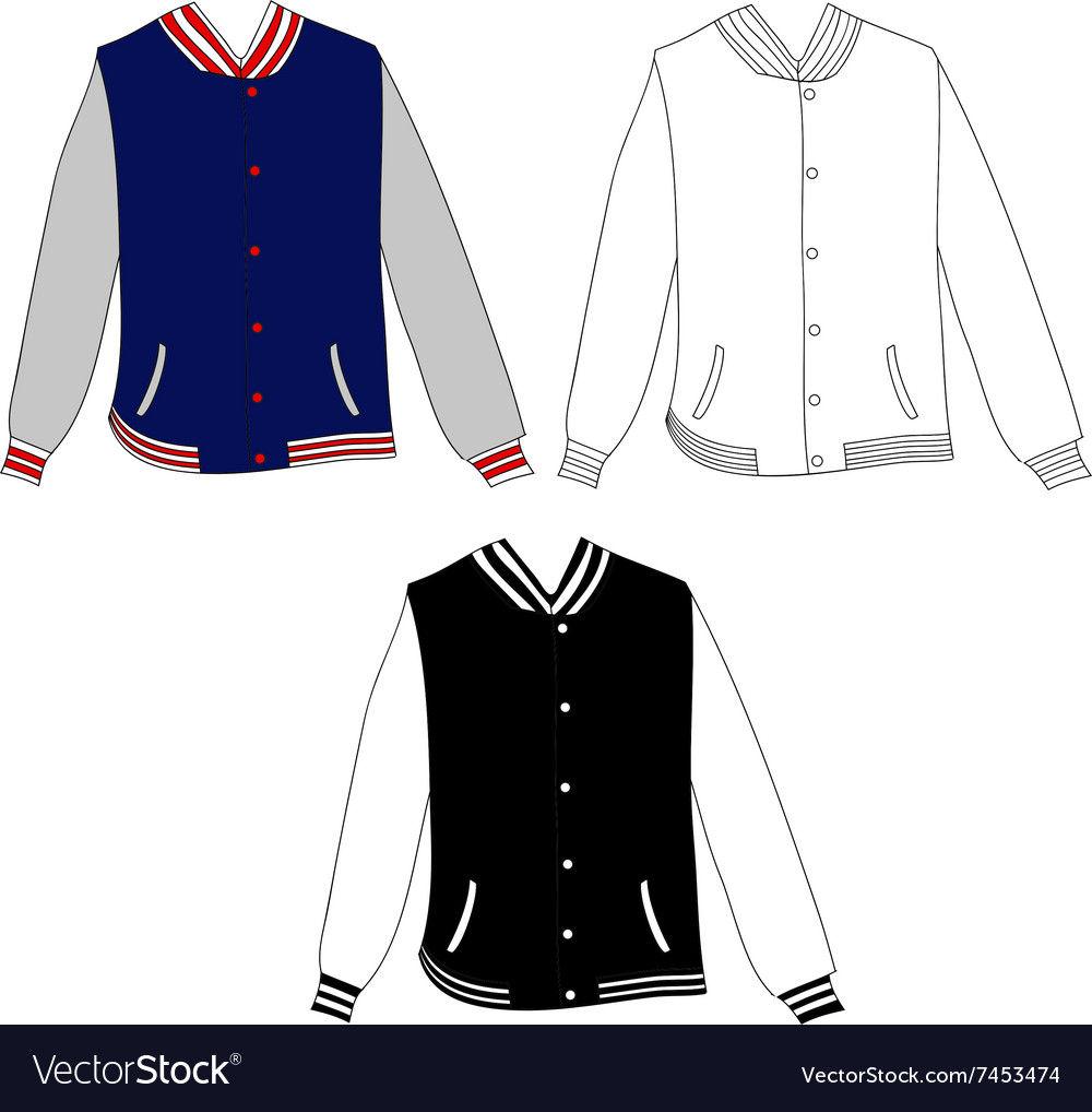 Baseball Jacket Design vector image