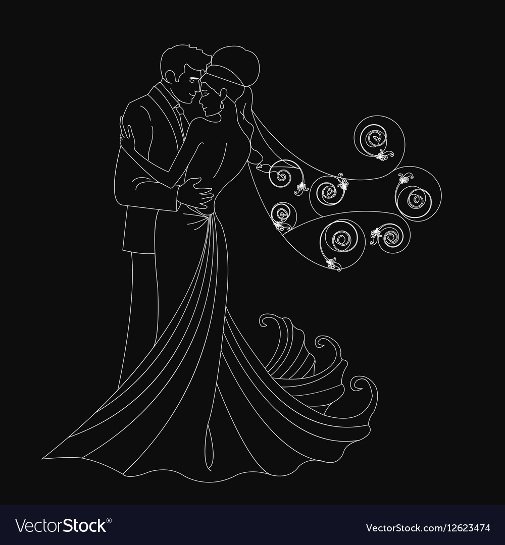 Black silhouette kissing