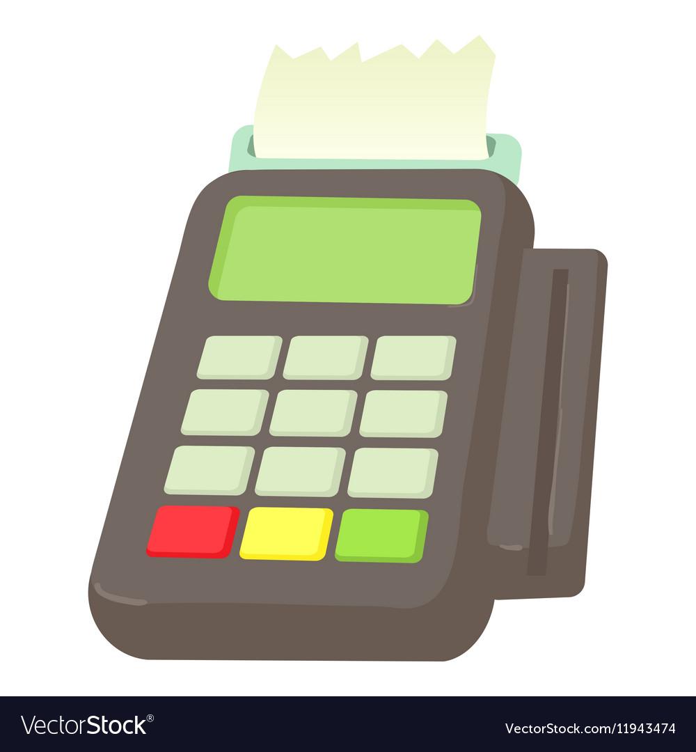 Card reader icon cartoon style vector image