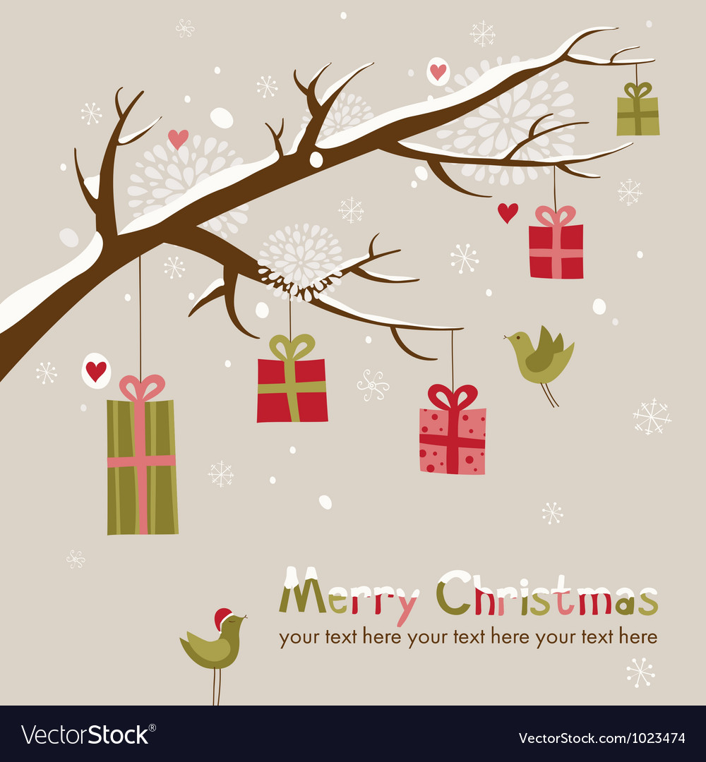 Cute christmas card royalty free vector image vectorstock cute christmas card vector image m4hsunfo