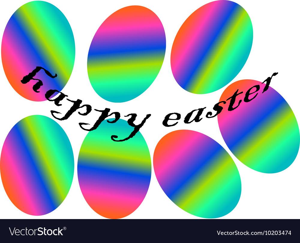 Eastern eggs in rainbow colors