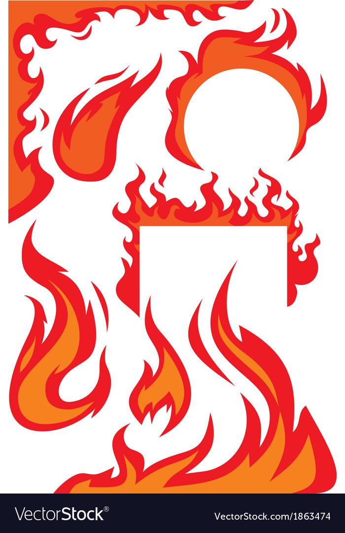 Flame borders vector image