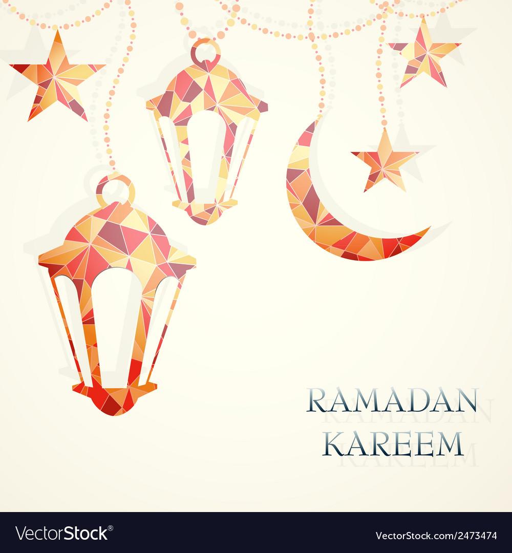 Ramadan greeting card design element royalty free vector ramadan greeting card design element vector image m4hsunfo