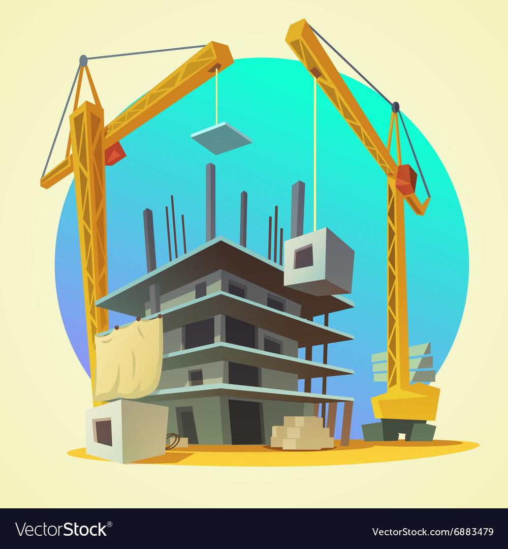 Construction concept cartoon