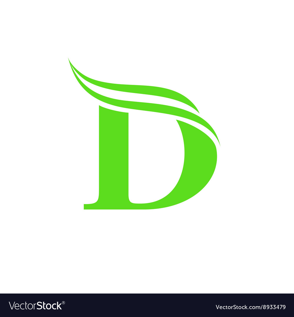 Dynamic Logo Letter D Design Template Vector Image