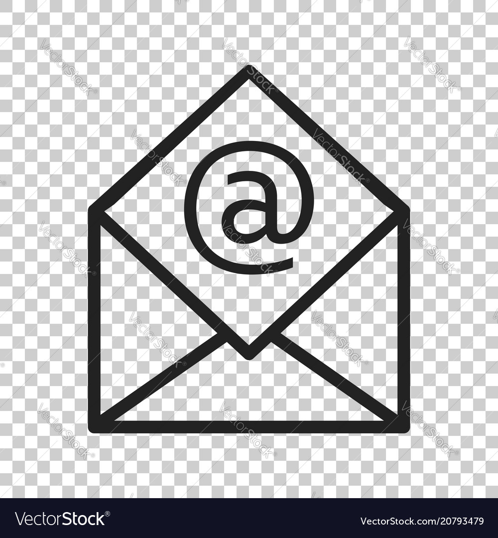 mail envelope icon email flat e mail business vector image