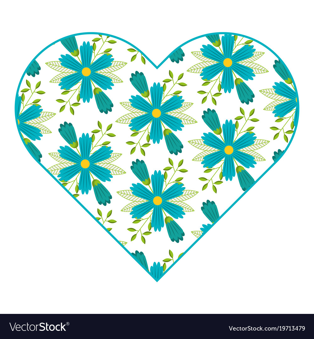 Pattern shape heart flower spring ornament image
