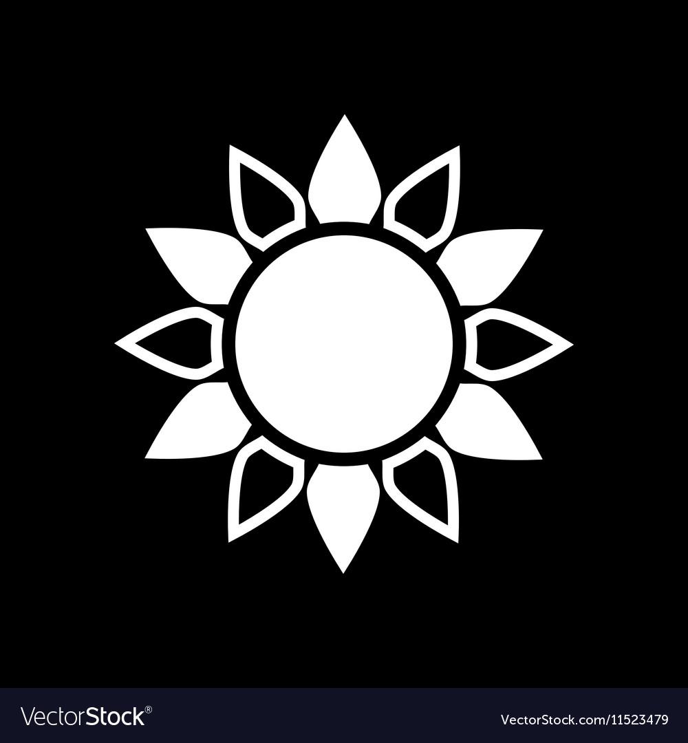 The sun icon Sunrise and sunshine weather sun