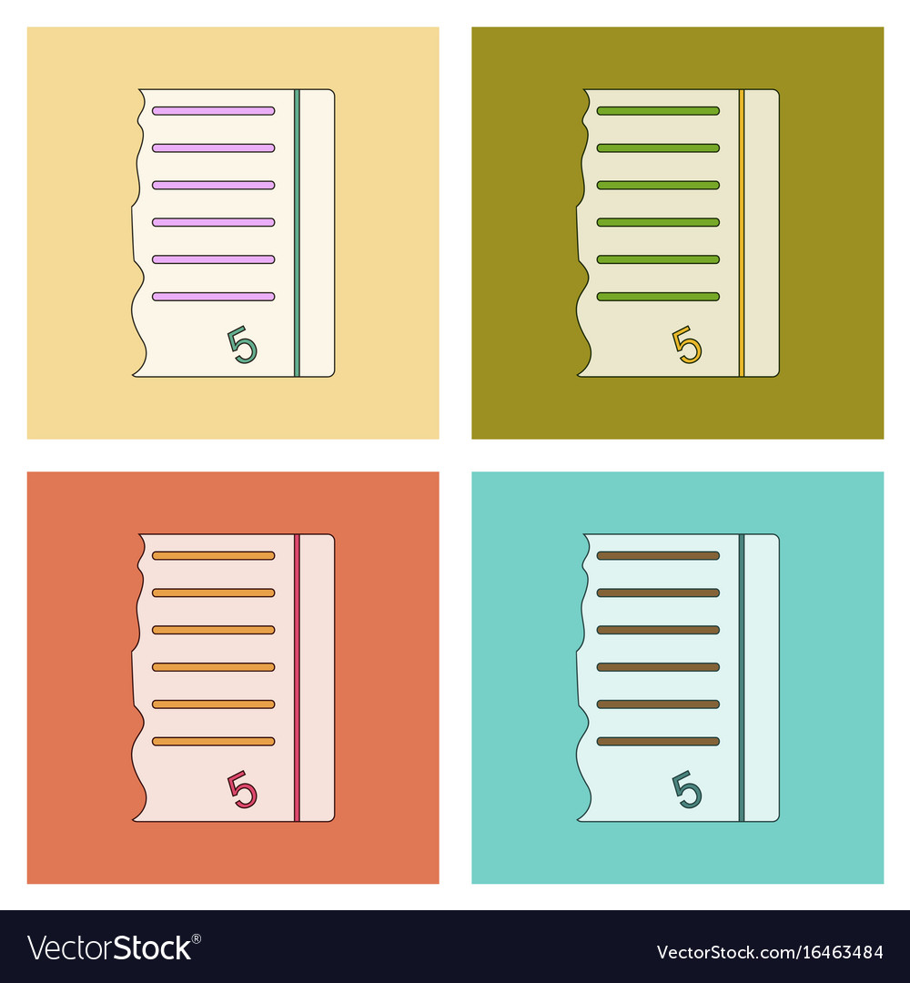 Assembly flat icons exam score excellent vector image