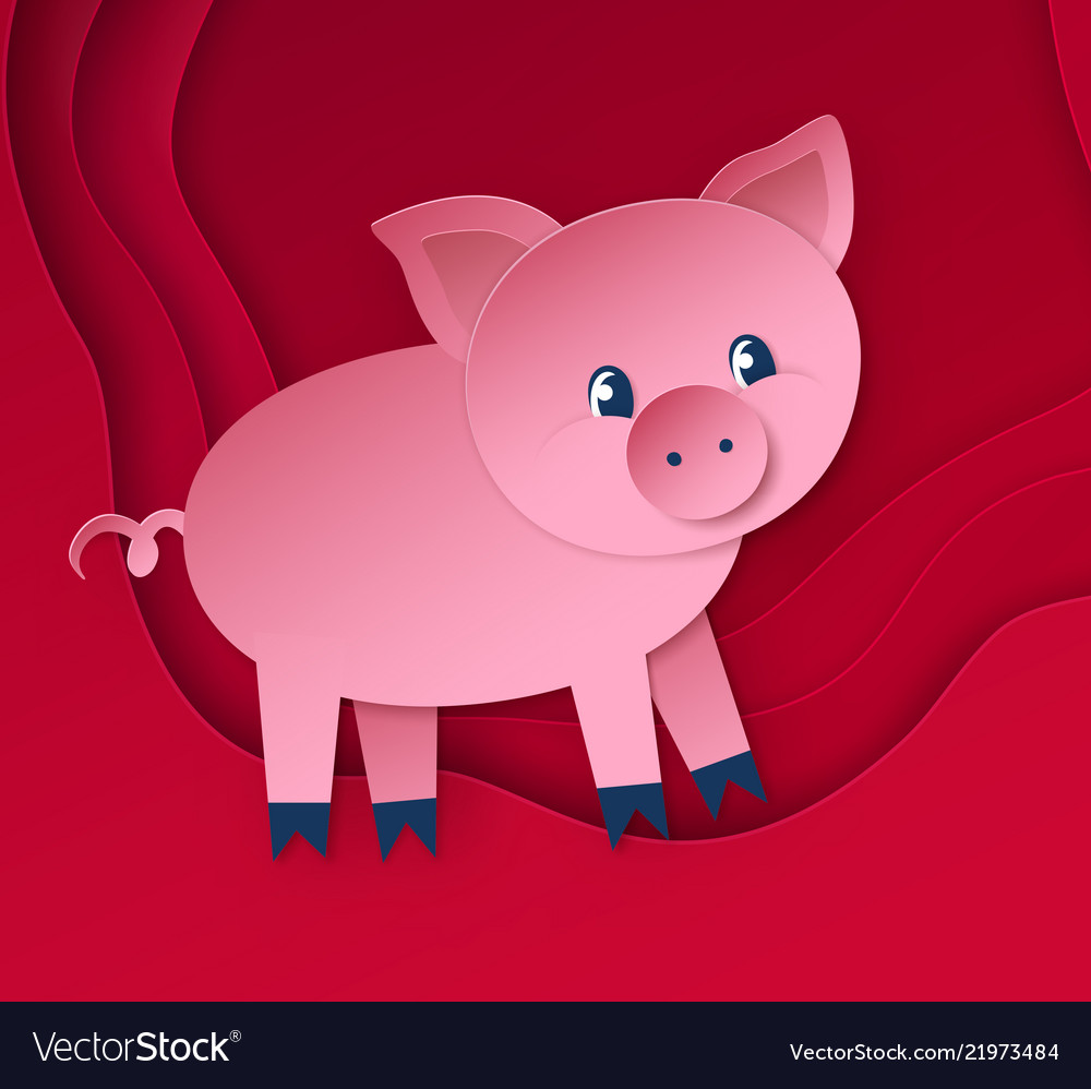 Cute new year pig character