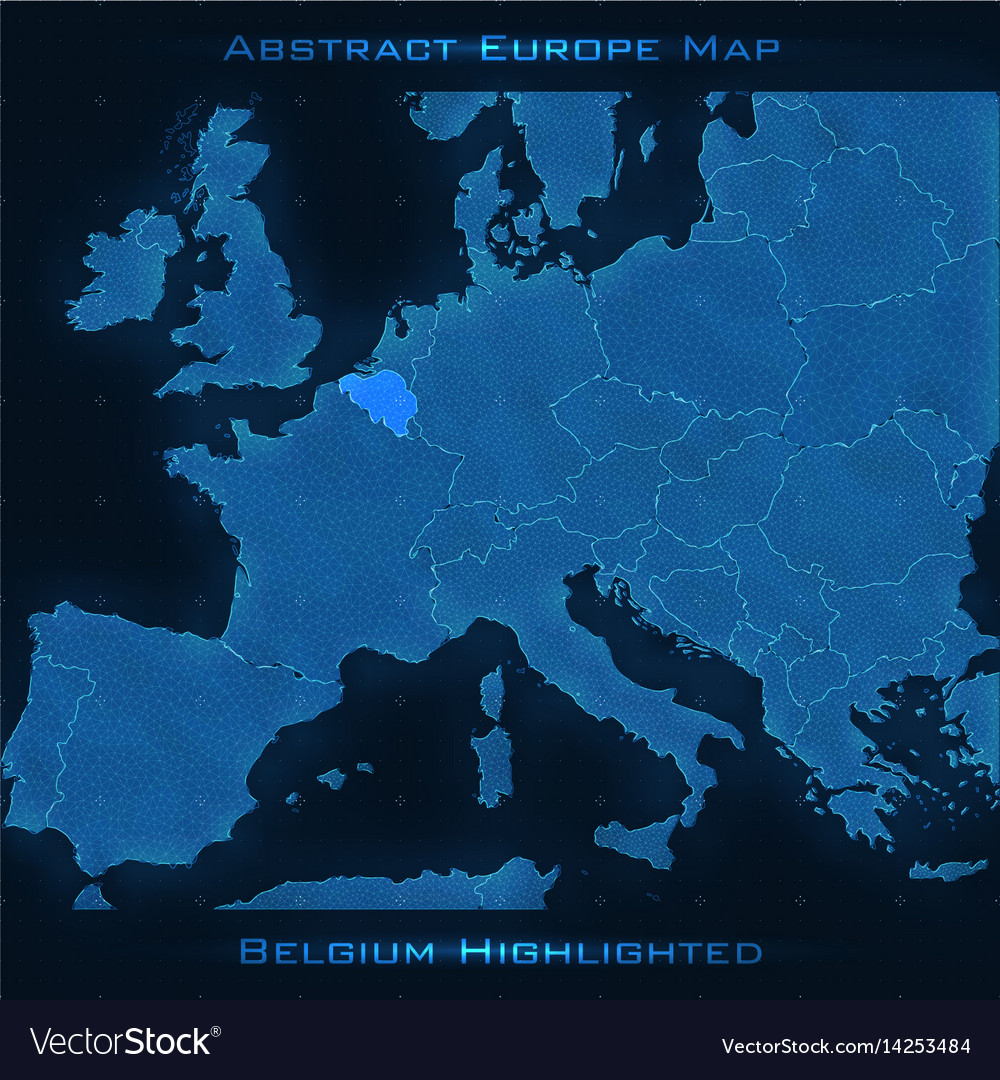 Europe Abstract Map Belgium Royalty Free Vector Image