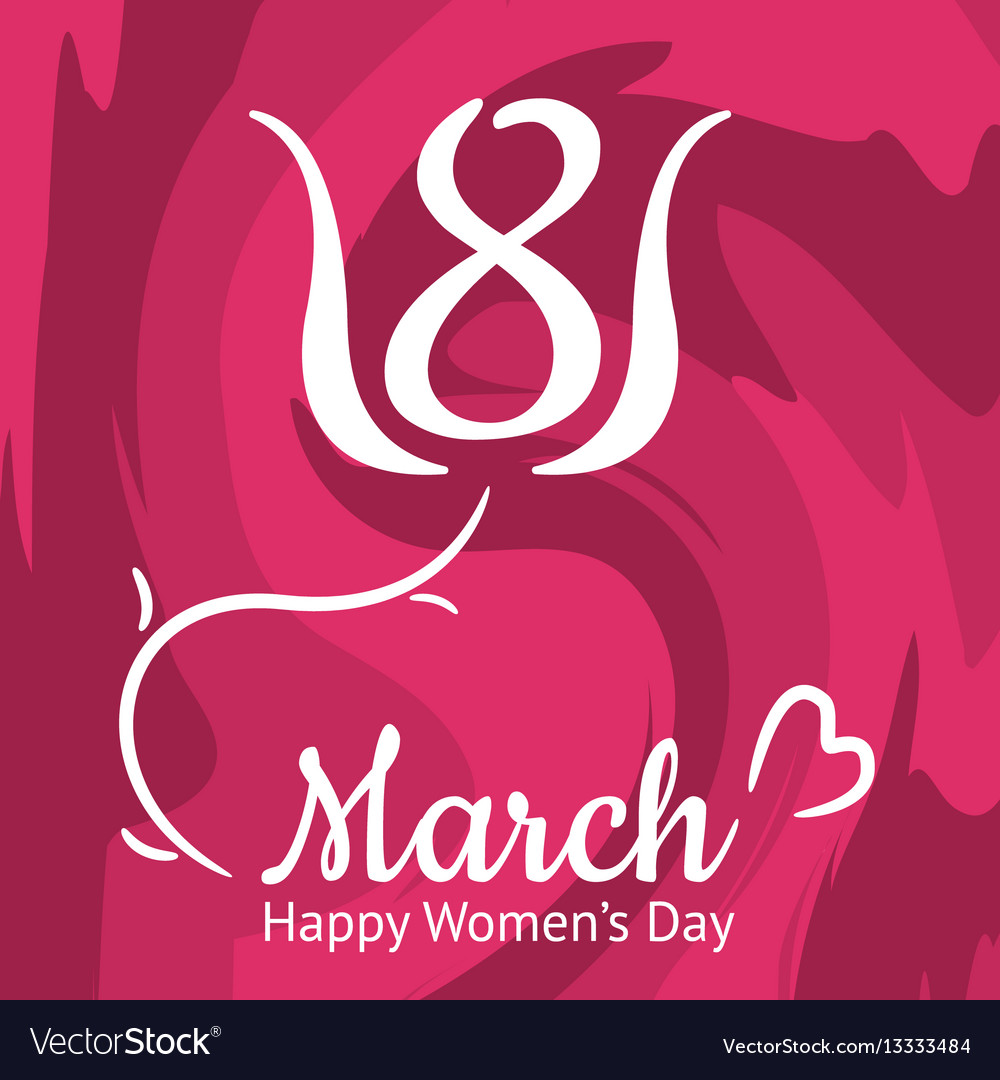 Nice Womens Day Greeting Card 8th March Royalty Free Vector