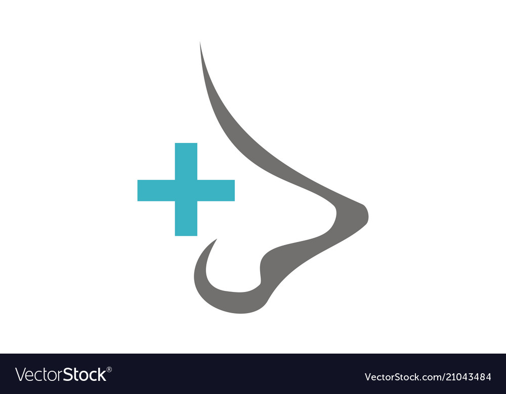 nose care logo design template royalty free vector image