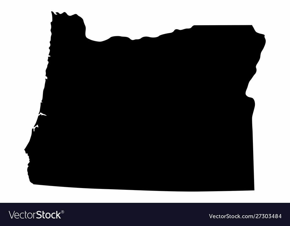 Oregon state silhouette map