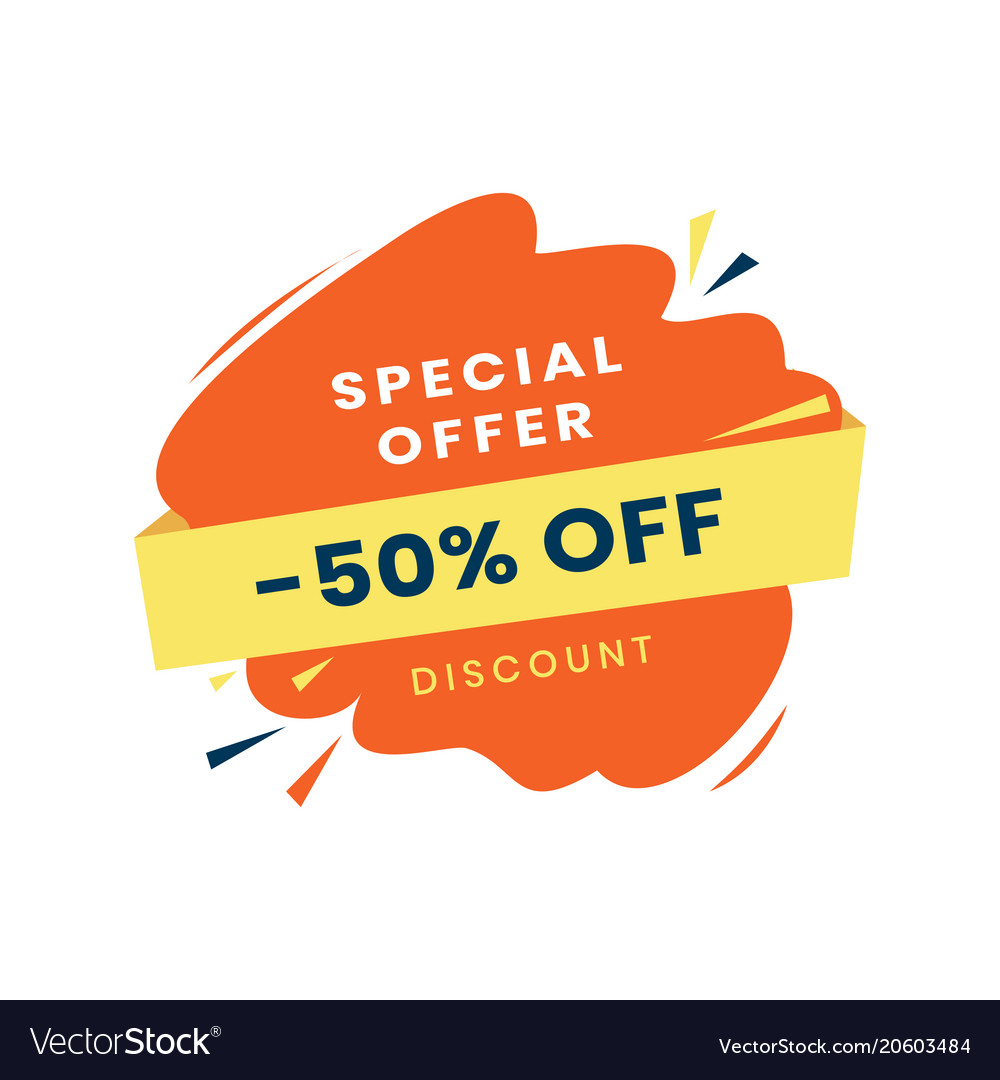 Special offer sign discount logo isolated