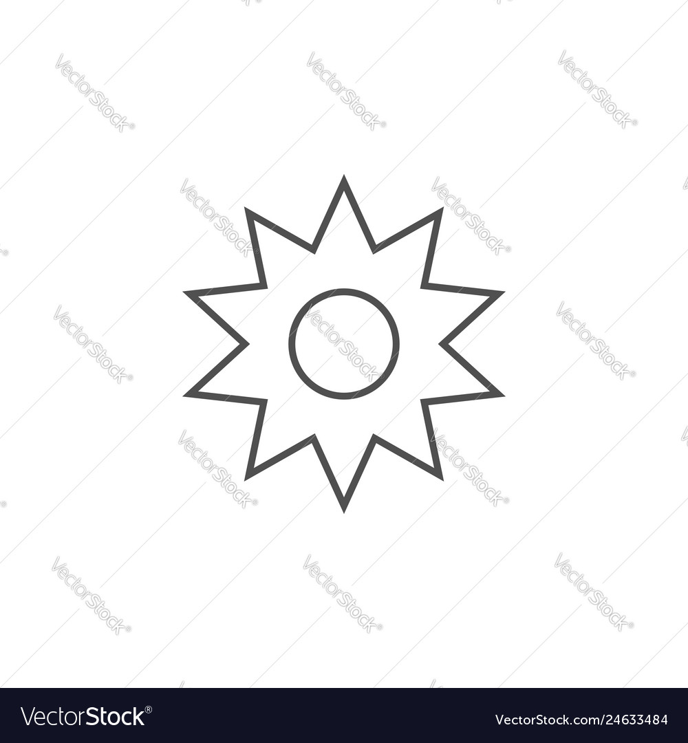 Sun related line icon