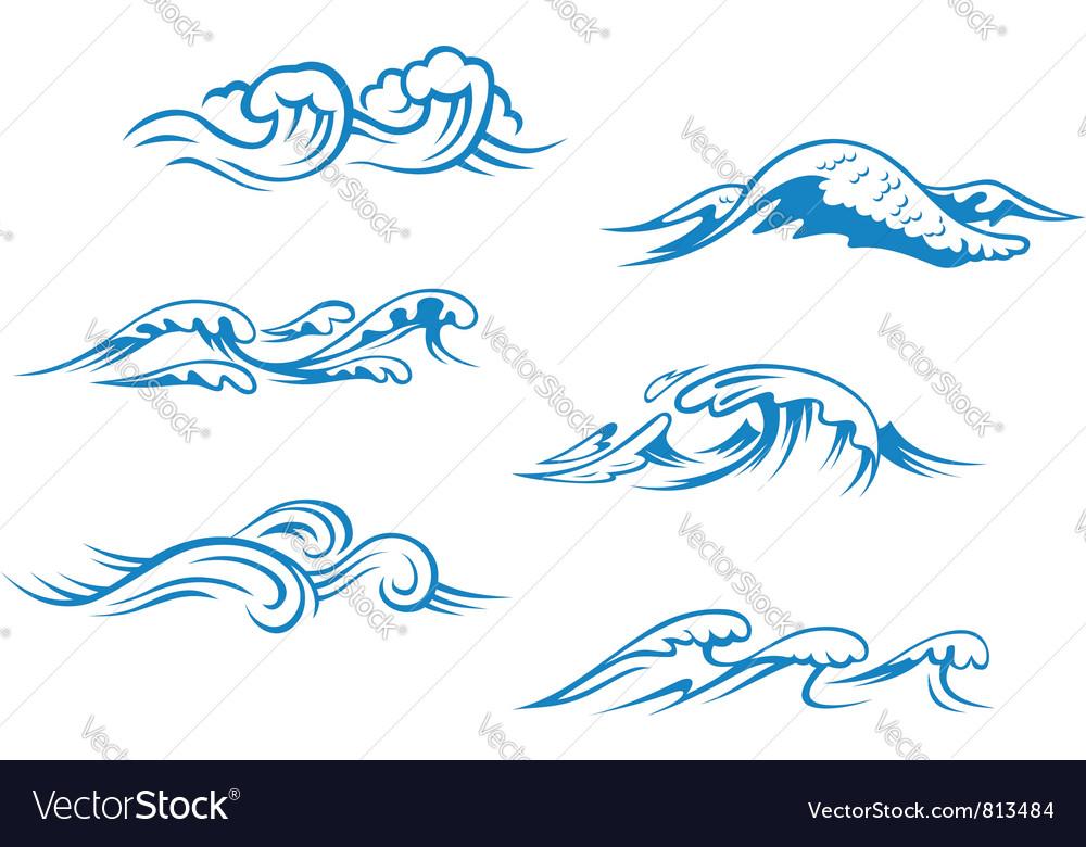 waves royalty free vector image vectorstock rh vectorstock com waves vector backgrounds waves vectorscope