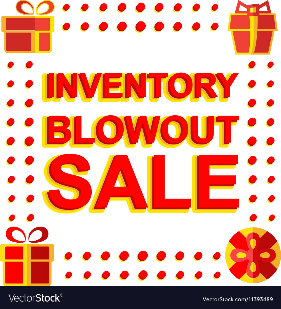 Big winter sale poster with INVENTORY BLOWOUT SALE