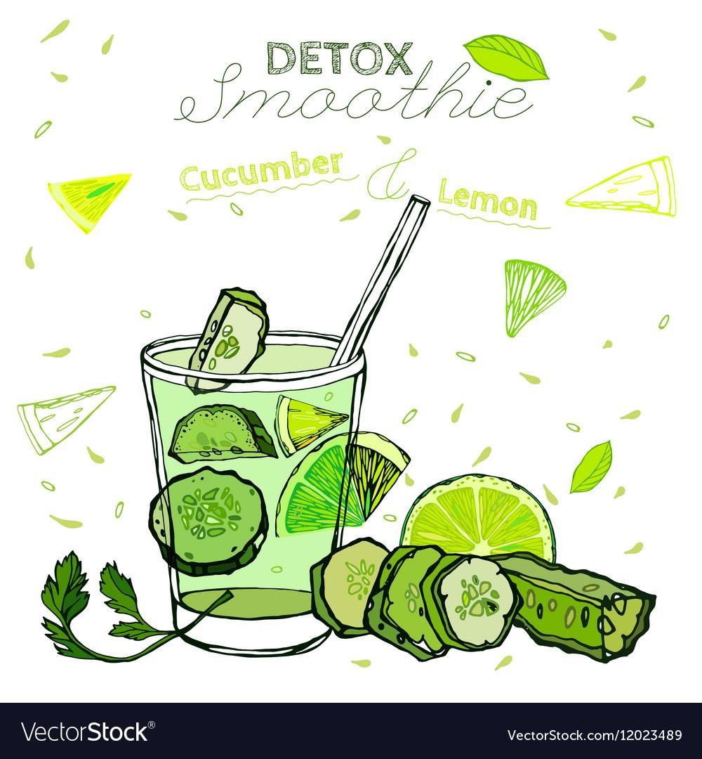 Detox cucumber smoothie