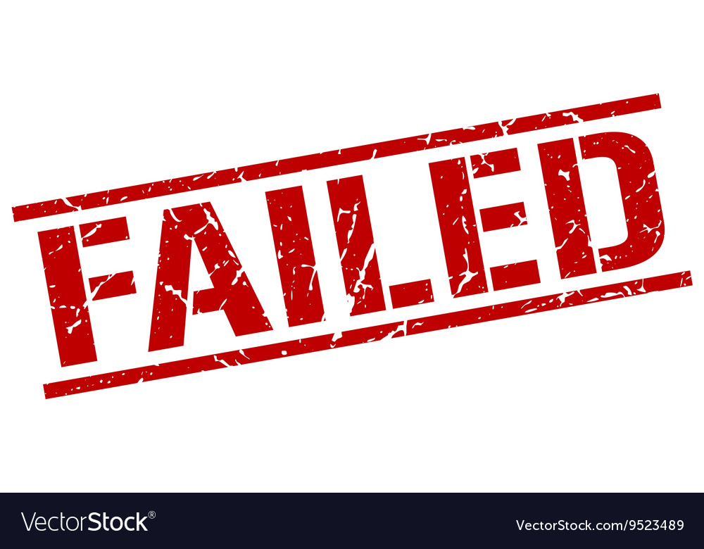 Failed stamp vector image