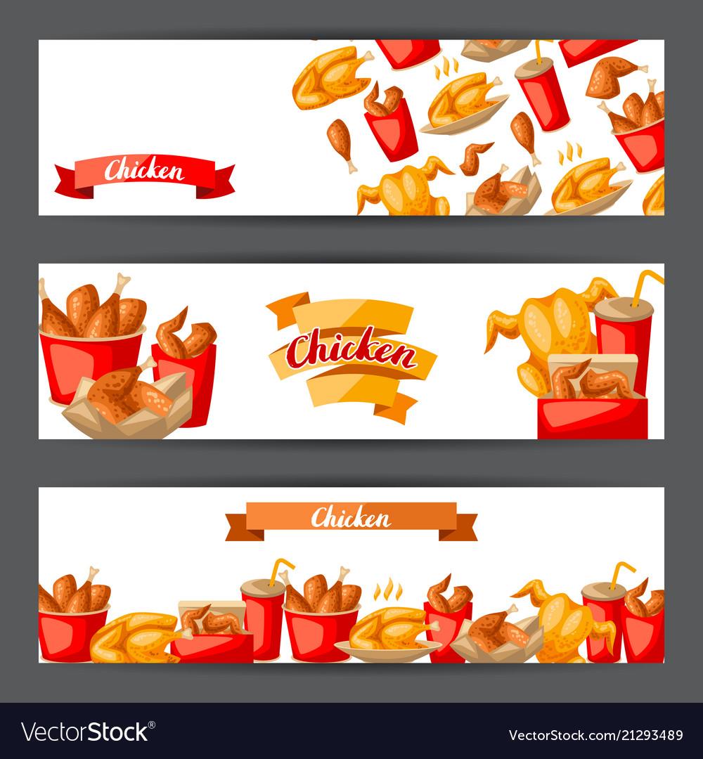 Fast food fried chicken meat