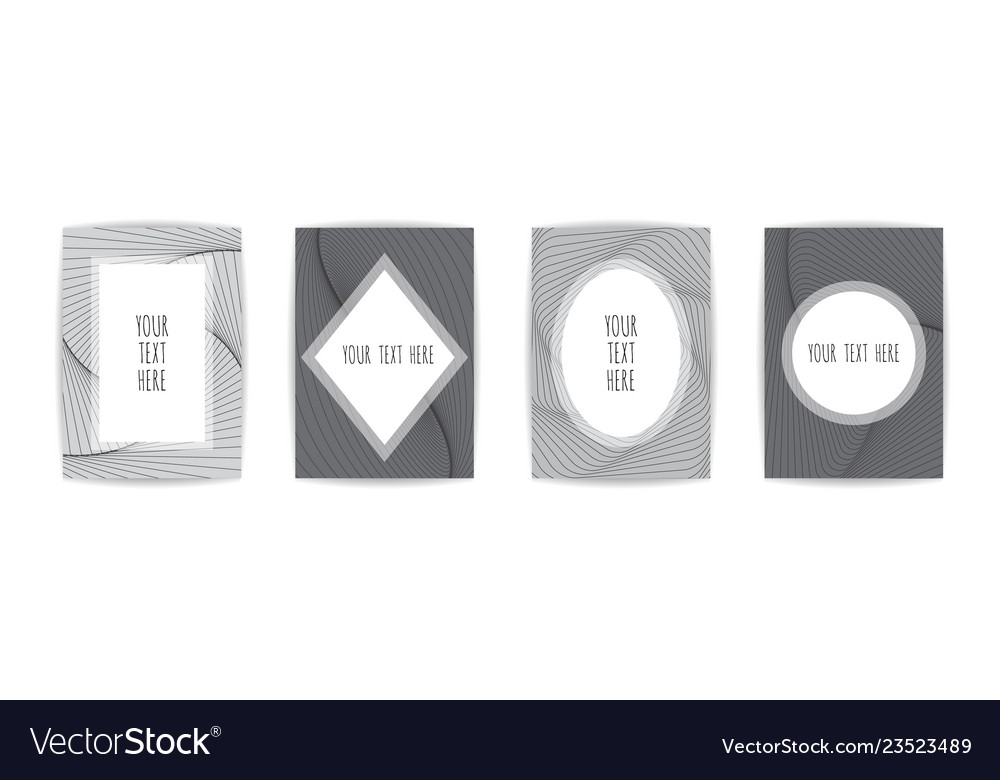 Futuristic posters design set abstract