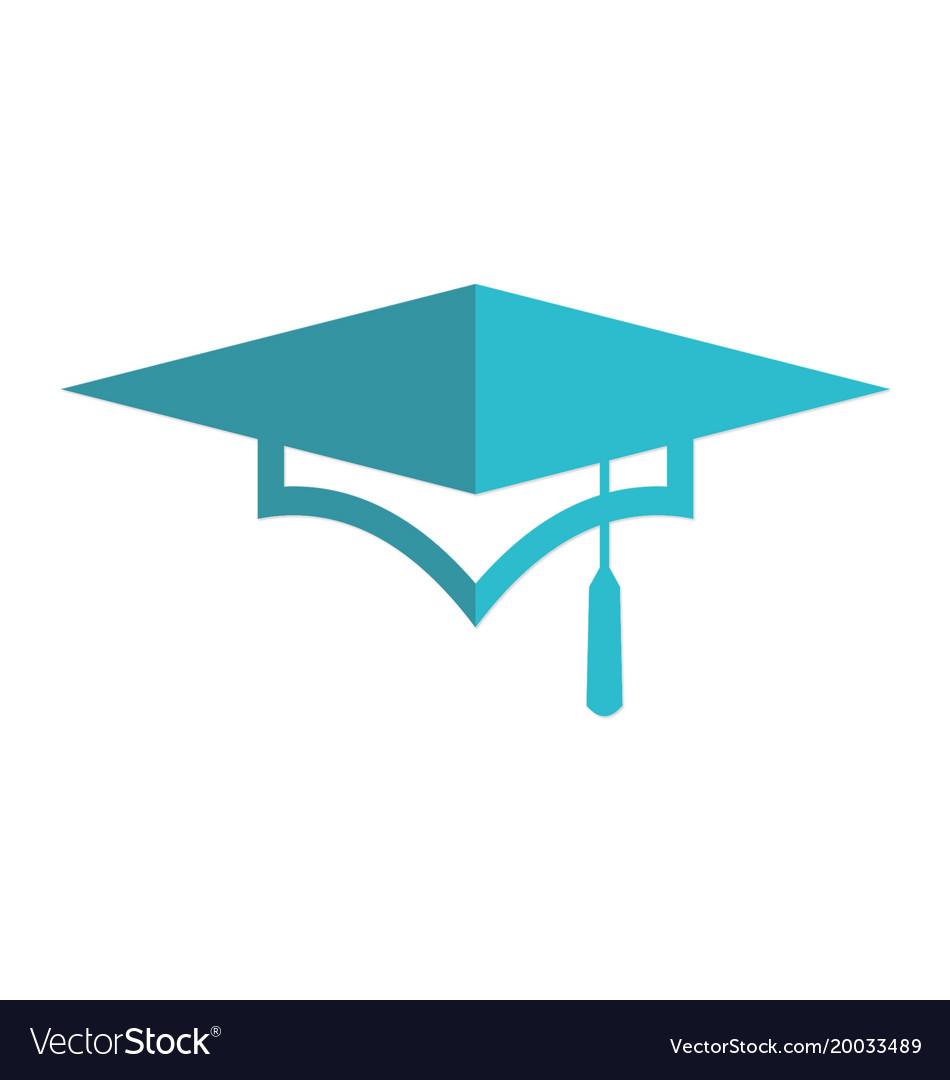 graduation hat university logo royalty free vector image rh vectorstock com graduation hat logo png graduation cap logo png