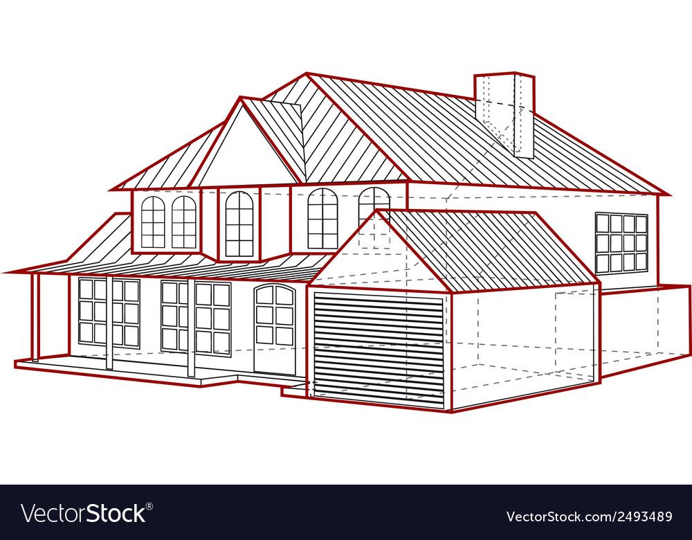 House plan Royalty Free Vector Image - VectorStock