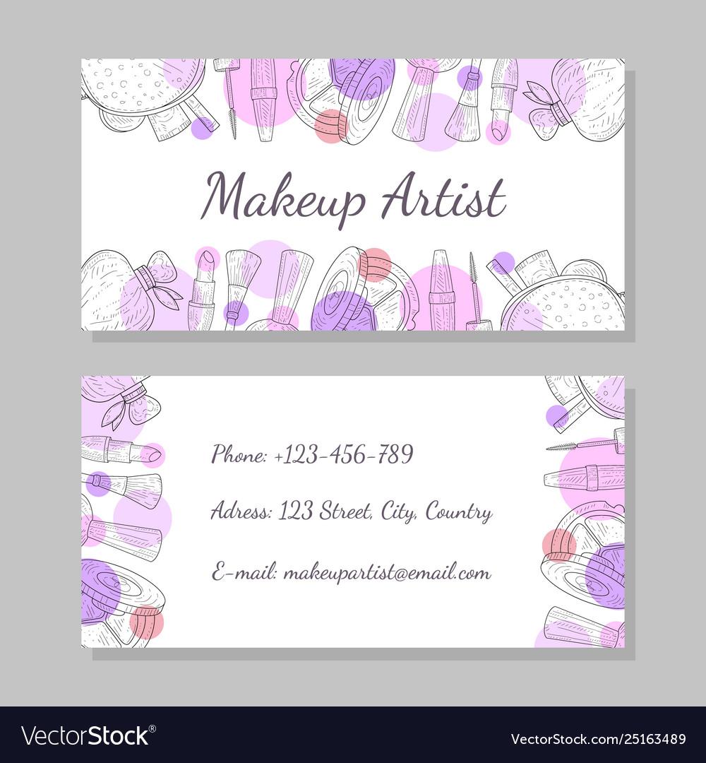 Makeup artist business card visiting card