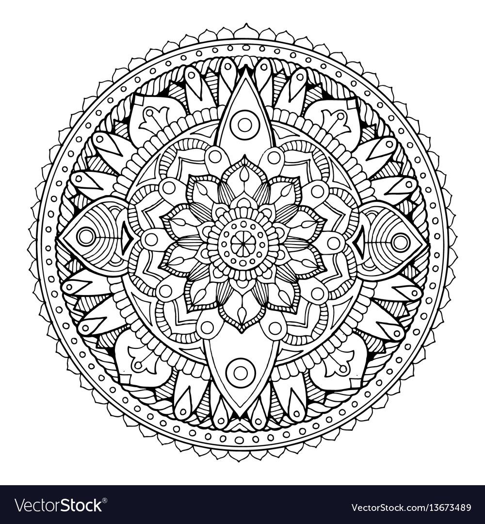 Mandala Coloring Book Royalty Free Vector Image