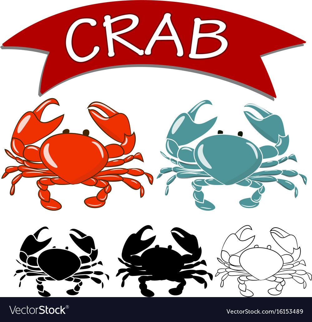 Set cooked crab and live crab