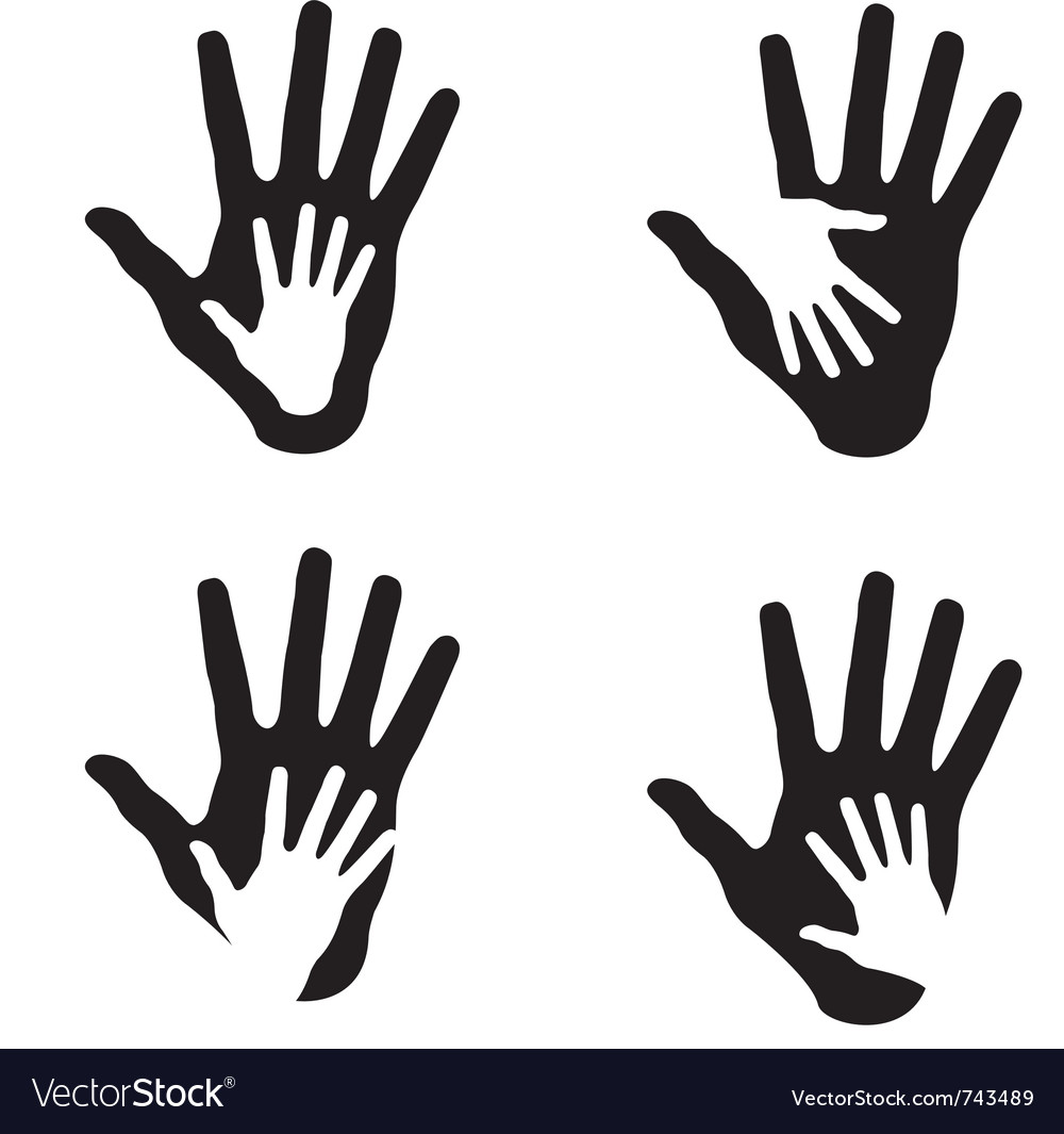 set of helping hands royalty free vector image rh vectorstock com vector handshake free download vector handshake free download