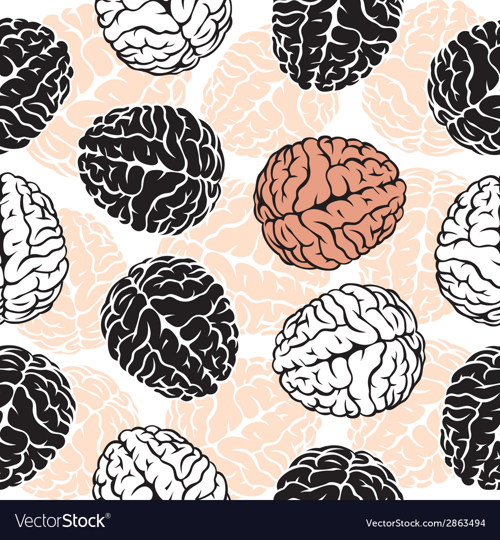 Brain seamless background template for your