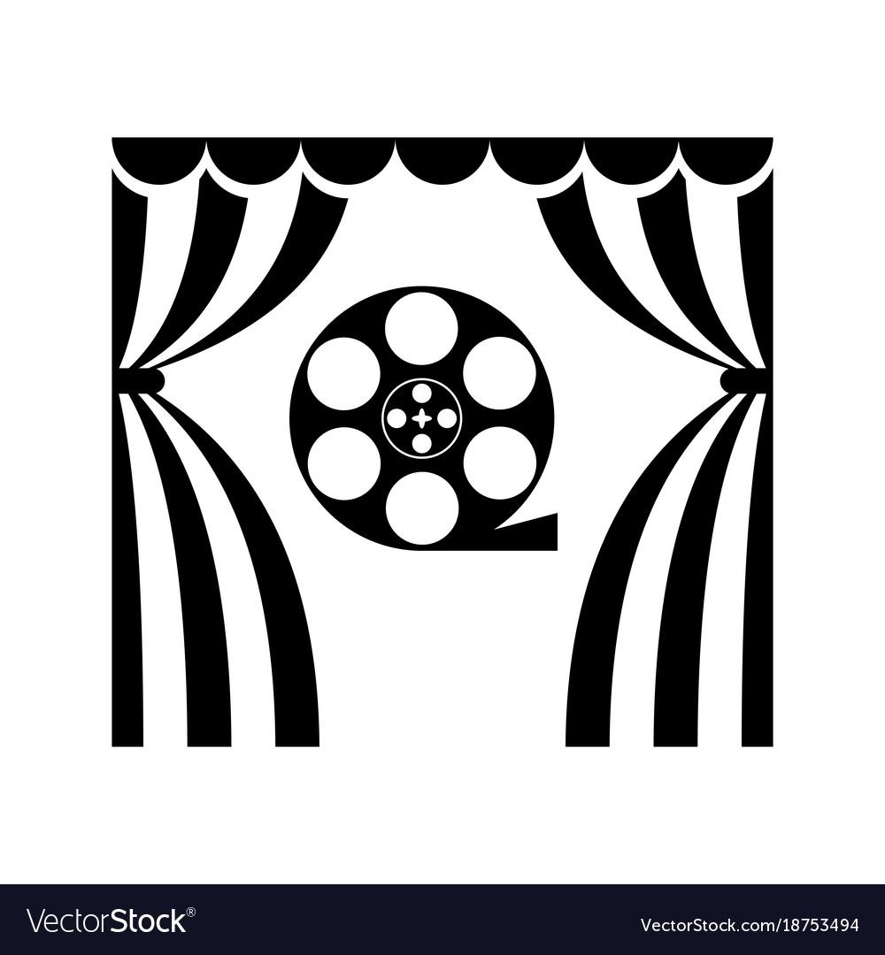 cinema theatre film reel royalty free vector image rh vectorstock com film reel vector black and white film reel vector png