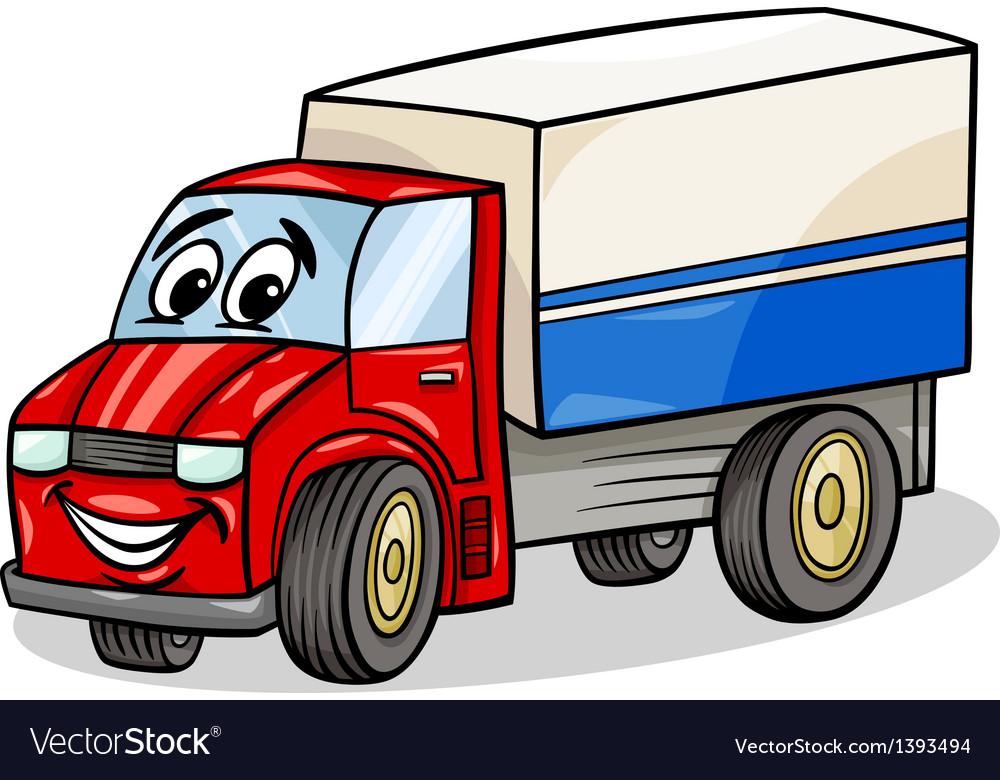 Funny Truck Car Cartoon Royalty Free Vector Image