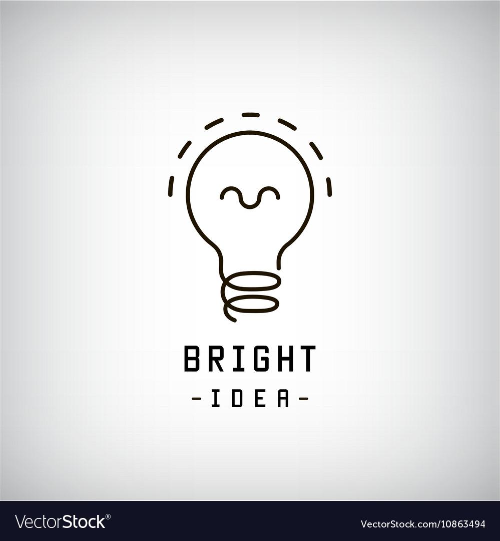 Light bulb abstract logo Idea brainstorm vector image