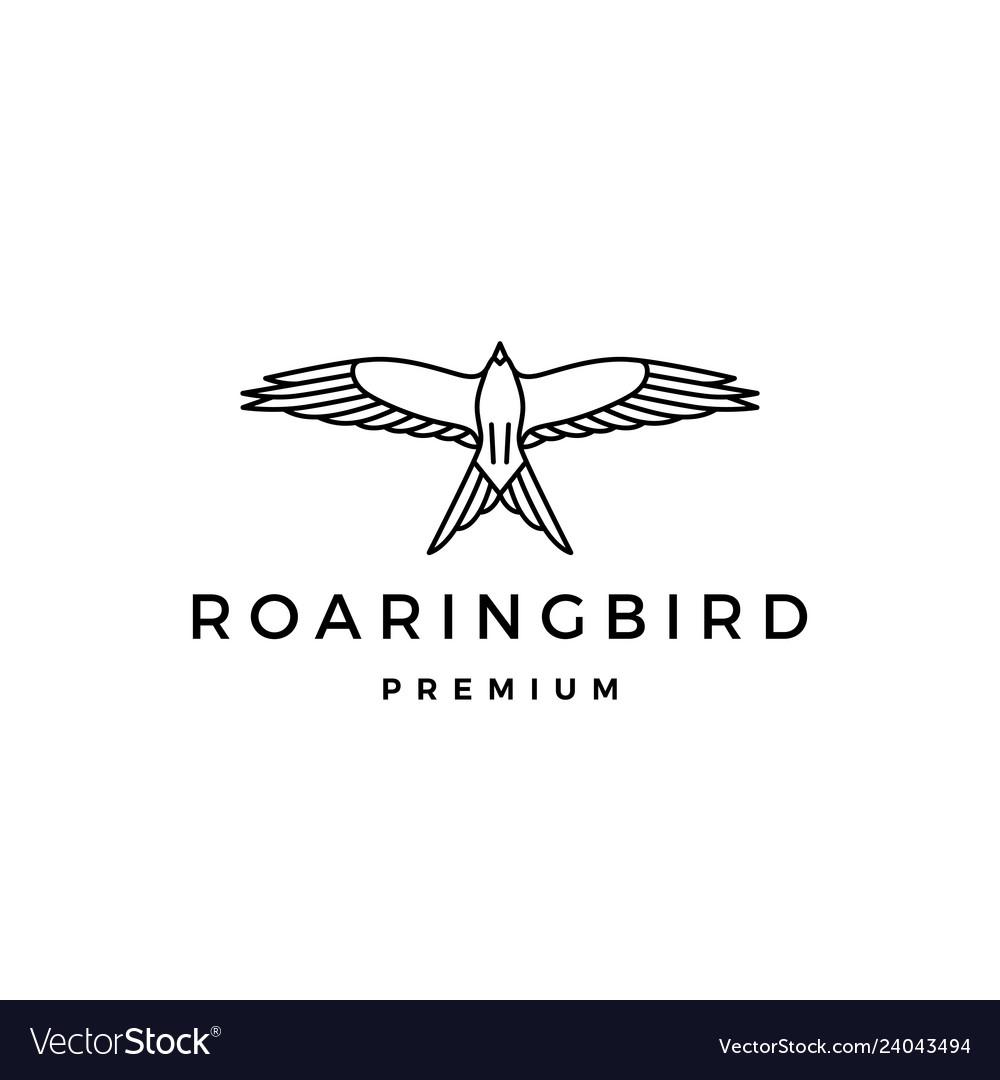 Roaring bird logo icon