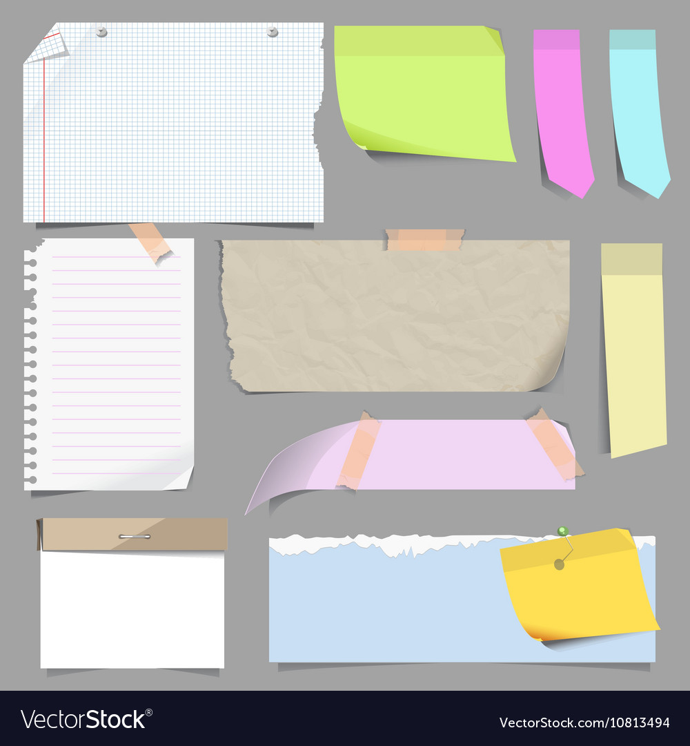 Set of blank note paper