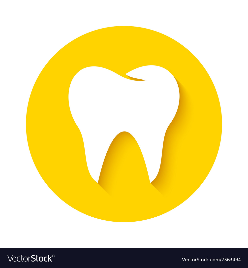 Tooth Icon Dental Logo Royalty Free Vector Image