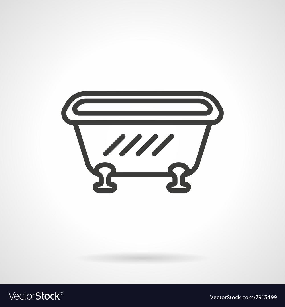 Bathtub black line design icon