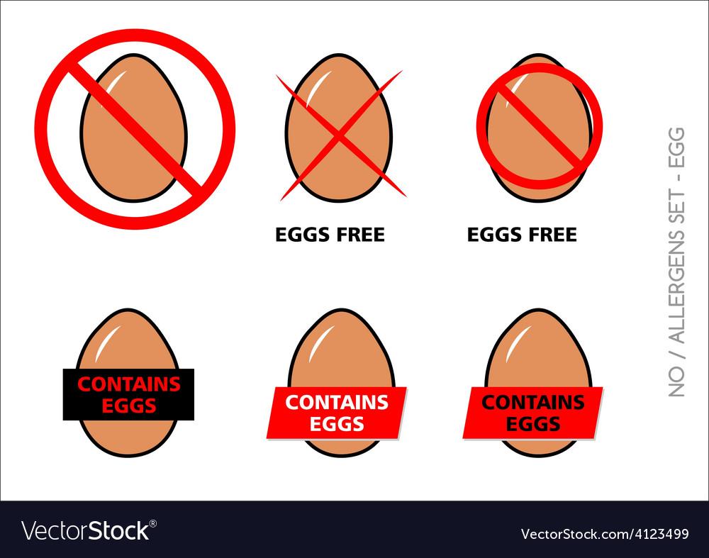 Brown Egg Free Symbols on white background vector image