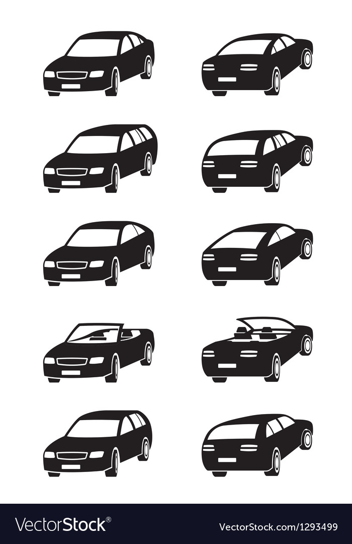 Different cars in perspective