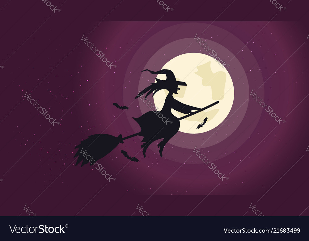 Halloween night background picture with flying