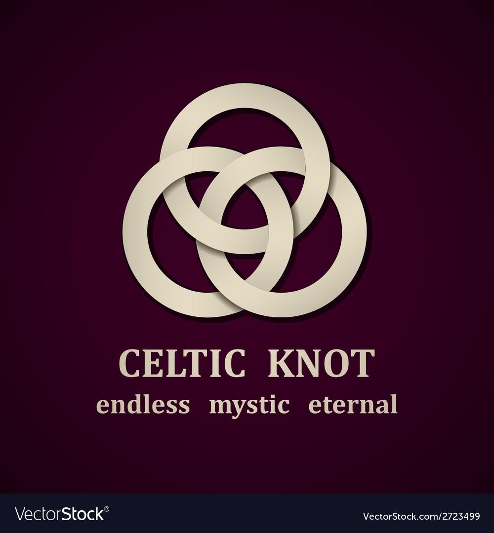 Paper Celtic Knot Symbol Design Template Vector Image