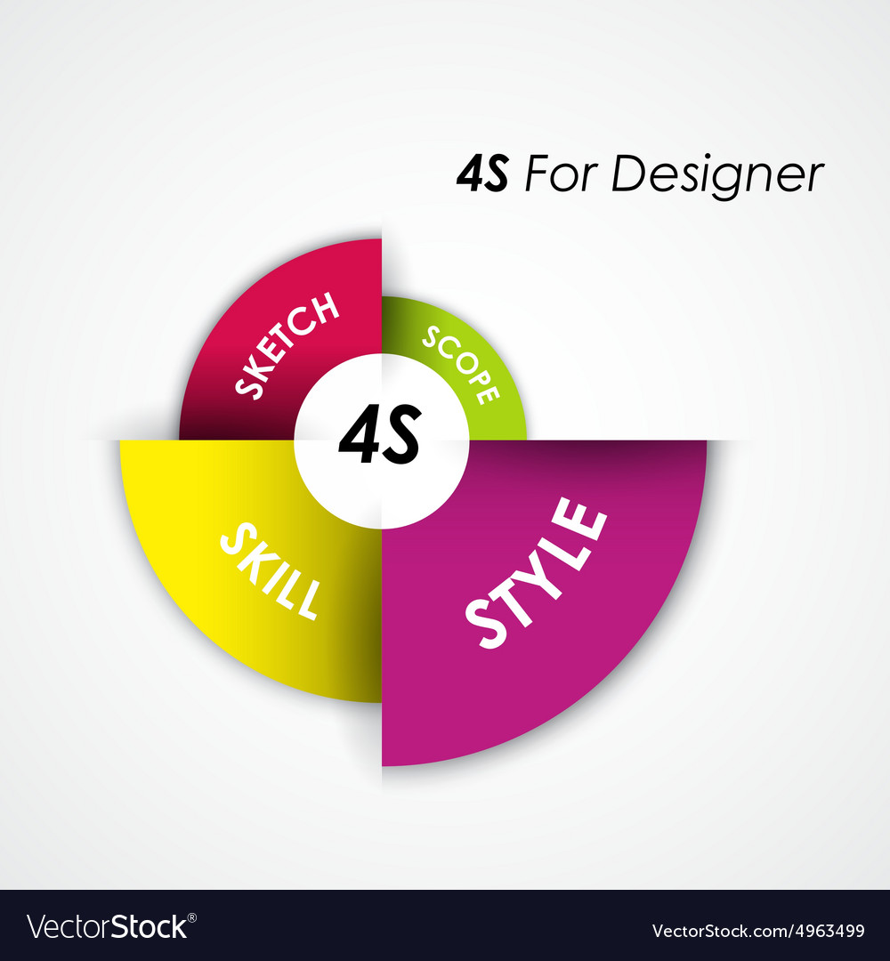 Presentation template and business management vector image