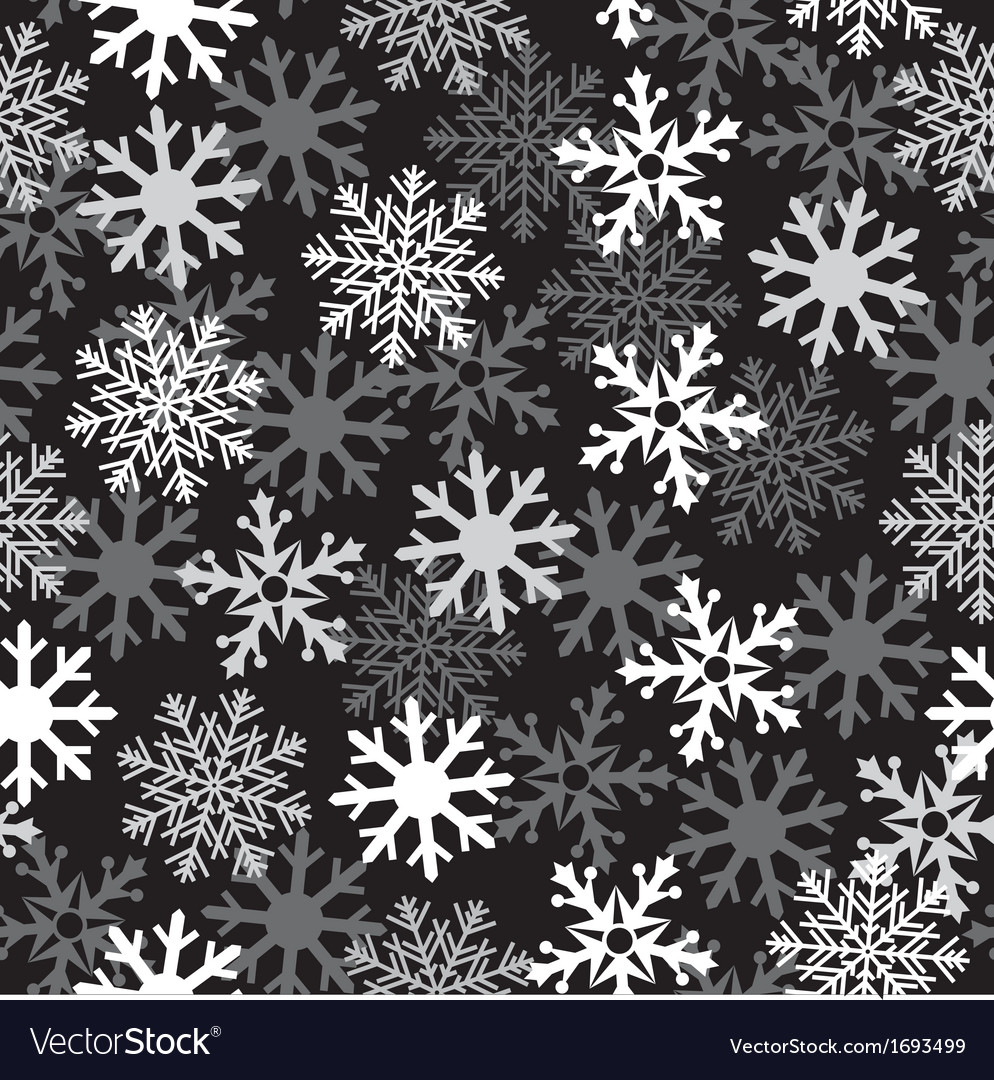 Snow black pattern