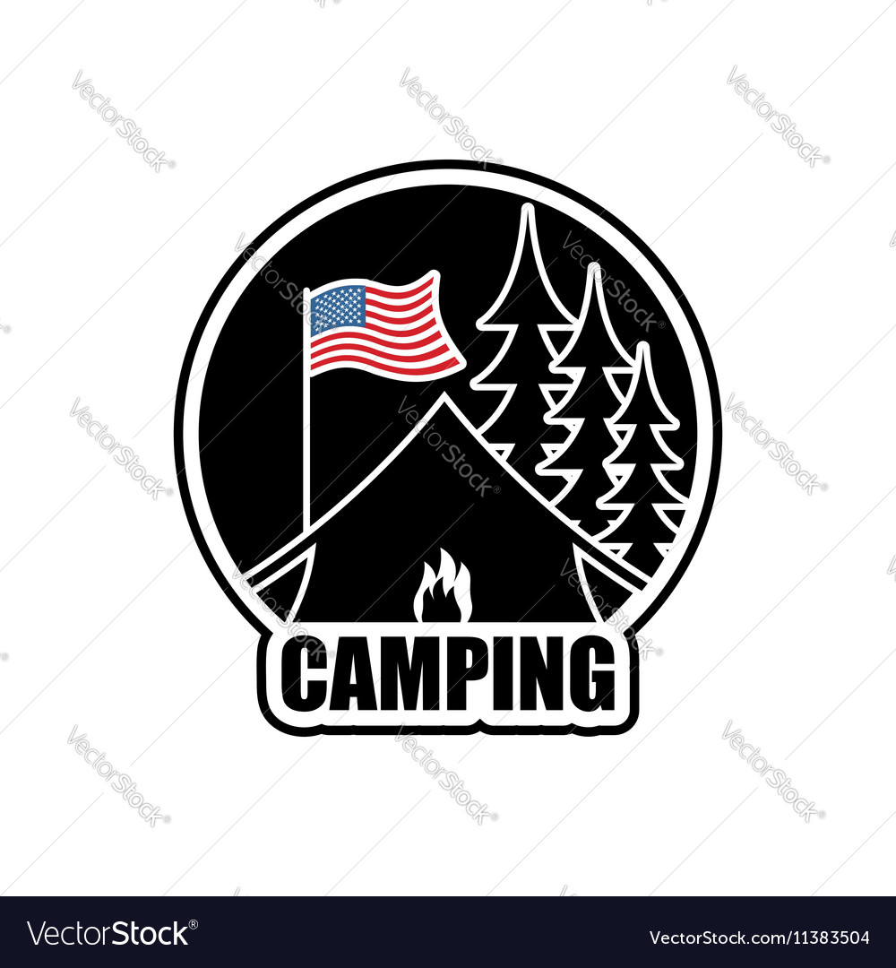 American Camping logo Emblem for accommodation
