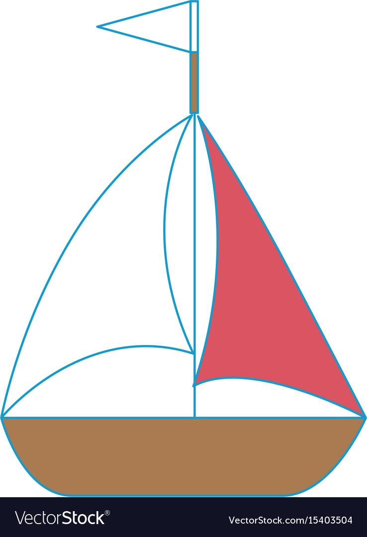 Isolated sailboat icon