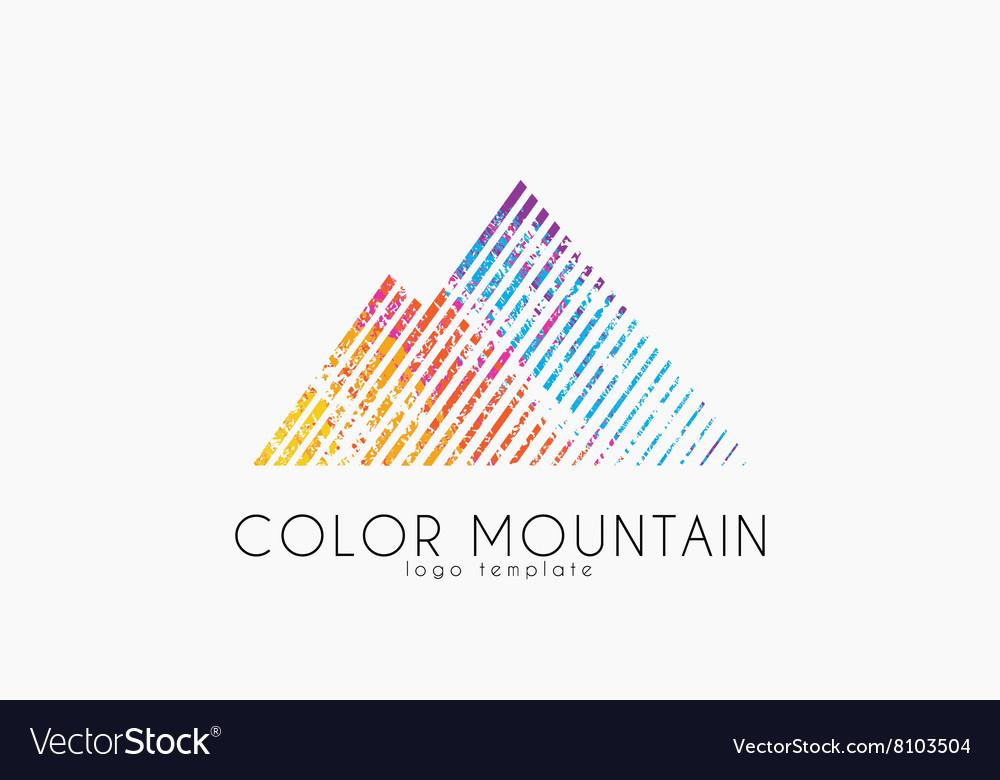 mountain logo color mountain logo creative logo vector image