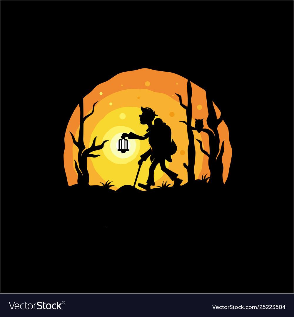 Night adventure logo design